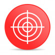 Target red circle web glossy icon - Stock Photo