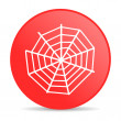 Spider web red circle web glossy icon - Stock Photo