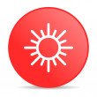 Sun red circle web glossy icon - Lizenzfreies Foto
