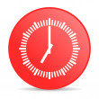 Clock red circle web glossy icon — Stock Photo