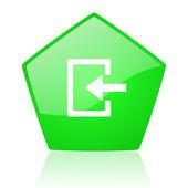 Ange gröna pentagon web blanka ikonen — Stockfoto