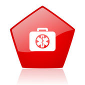 Rescue kit red web glossy icon — Stock Photo