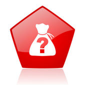 Riddle red web glossy icon — Stock Photo