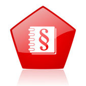 Law red web glossy icon — Stock Photo