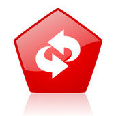 Rotate red web glossy icon — Stock Photo