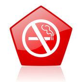 Kein rauchen rot web glossy ii — Stockfoto