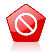 Access denied red web glossy icon — Stock Photo