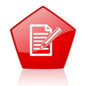 Subscribe red web glossy icon — Stock Photo