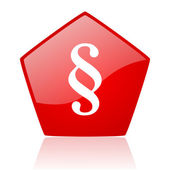 Paragraph red web glossy icon — Stock Photo