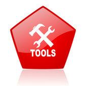 Tools red web glossy icon — Stock Photo
