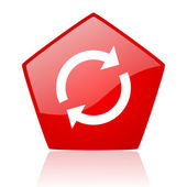 Reload red web glossy icon — Stock Photo