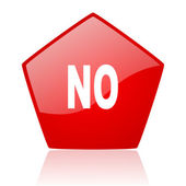 No red web glossy icon — Stock Photo