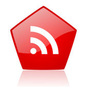 Rss red web glossy icon — Stock Photo