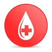 Blood red circle web glossy icon — Stock Photo