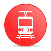 Trein rode cirkel web glanzende pictogram — Stockfoto