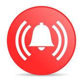 будильник красный круг веб глянцевой значок — Стоковое фото