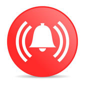 Alarm red circle web glossy icon — Stockfoto