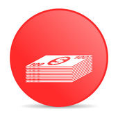 Money red circle web glossy icon — Stock Photo
