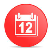 Planner red circle web glossy icon — Stock Photo