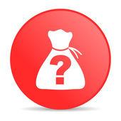 Hádanky červený kruh ikonu webové lesklý — Stock fotografie