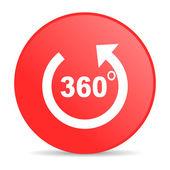 Panorama red circle web glossy icon — Stock Photo