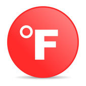 Fahrenheit red circle web glossy icon — Stock Photo
