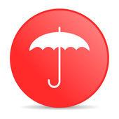 Umbrella red circle web glossy icon — Stock Photo