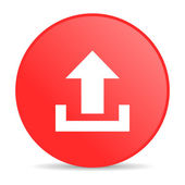 Upload red circle web glossy icon — Stock Photo