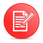 Subscribe red circle web glossy icon — Stock Photo