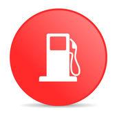 ícone de lustroso combustível círculo vermelho web — Fotografia Stock
