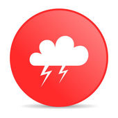 Weather forecast red circle web glossy icon — Stock Photo