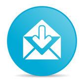 Brillante icono de correo círculo azul web — Foto de Stock