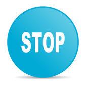 Stop blue circle web glossy icon — Stock Photo