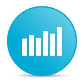Bar graph blue circle web glossy icon — Stok fotoğraf