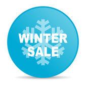 Winter sale blue circle web glossy icon — Stock Photo