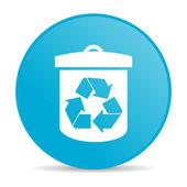 Riciclare icona cerchio blu lucido di web — Foto Stock