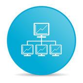 сеть синий круг веб глянцевой значок — Стоковое фото