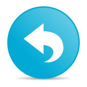 Back blue circle web glossy icon — Stock Photo