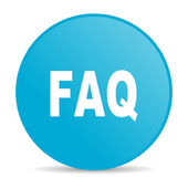 Faq blue circle web glossy icon — Stock Photo
