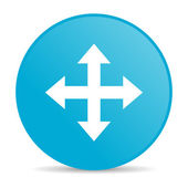 Pijlen blauwe cirkel web glanzende pictogram — Stockfoto