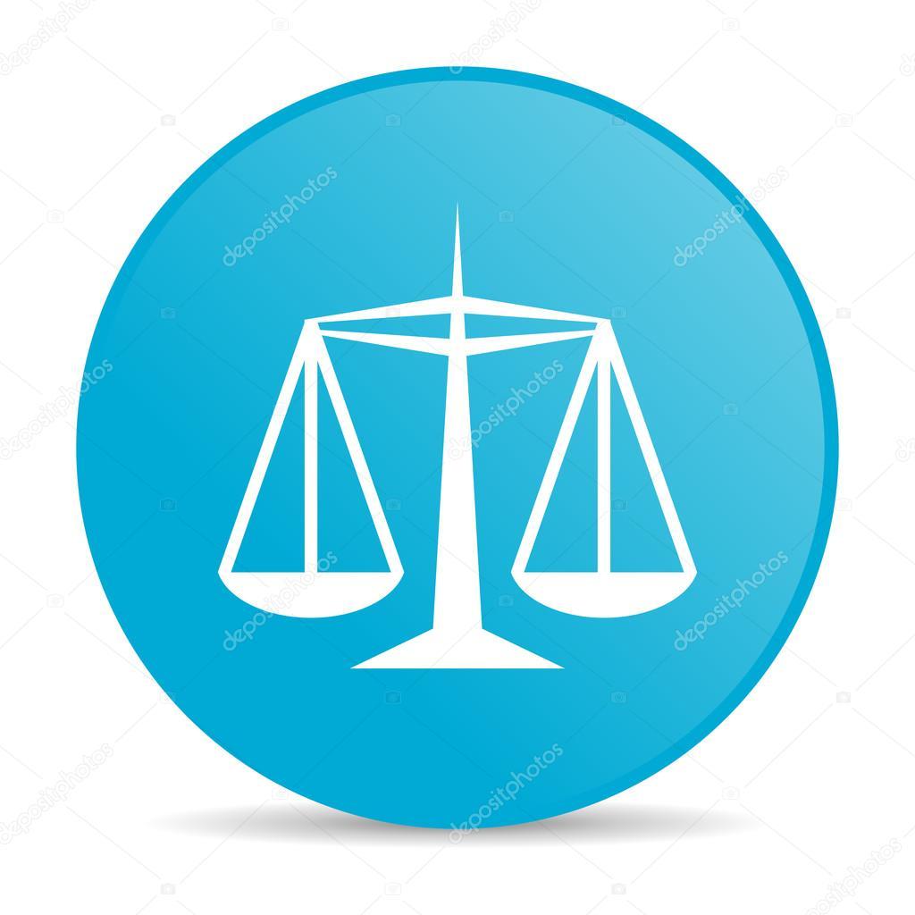 司法蓝色圆圈 web 光泽图标