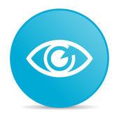 Eye blue circle web glossy icon — Stock Photo