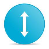 箭头的蓝色圆圈 web 光泽图标 — 图库照片