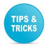 İpuçları mavi daire web parlak simgesi — Stok fotoğraf