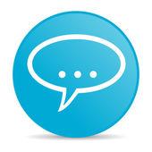 Forum blauwe cirkel web glanzende pictogram — Stockfoto