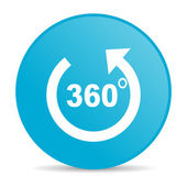 Panorama blue circle web glossy icon — Stock Photo