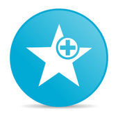 ícone de brilhante estrela círculo azul web — Foto Stock