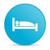 Hotel blue circle web glossy icon — Foto Stock