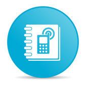 Phonebook blue circle web glossy icon — Stock Photo