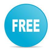 бесплатно синий круг веб глянцевой значок — Стоковое фото